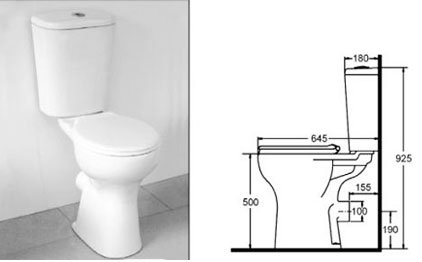 comfort height disabled toilet valero