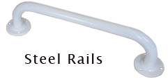 Grab Rail In Polished Steel 300mm